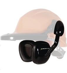 Mušlový chránič sluchu SUZUKA 2, vysoce ohebný ABS, syntec, pěna, černé