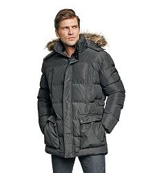Bunda ANS LONG PARKA zimní, 100% polyester, AC zátěr, kapuca s kožíchem, černá