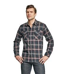 Košile RIBE pánská, kostičkovaná, 100% bavlna, černá/červená