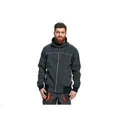 Mikina EMERTON NEW s kapucí, pánská , 80% bavlna / 20'% polyester, reflexní pruh