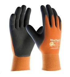 Rukavice MAXITHERM A3039 zimní polomáčené odolné přirodní latex oranžovo-černé