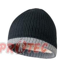Čepice pletená OLE, černá/šedá