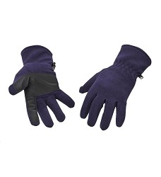 Rukavice Portwest GL11 fleecové polštářky s gripy na dlani tmavě modré