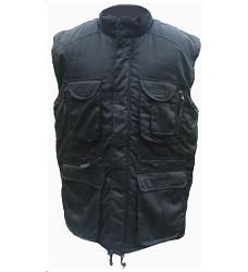 Montérková vesta PAMIR zimní víceúčelová mnoho kapes černá