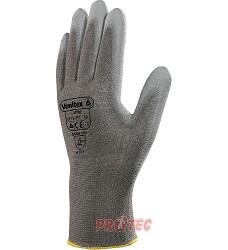 Rukavice VE702PG, polyuretanový povlak na dlaních a koncích prstů/úplet