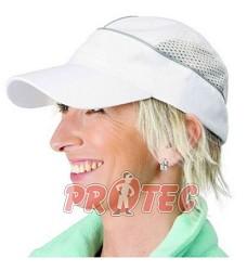 Čepice pracovní ALZETTE bílá, stříbrný proužek