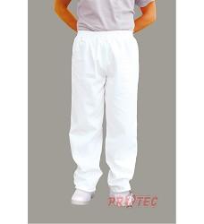 Kalhoty pekařské BAKER 2208 bílé do gumy