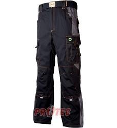Montérkové kalhoty VISION H9104 pasové černo-šedé