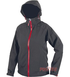 DAISY bunda softshell, dámská, H2096 černá + červený zip