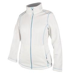 YVONNE dámská fleece mikina modrá-H2103, bílá- H2102