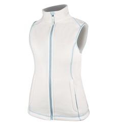 JANETTE dámská fleece vesta , modrá - H2105, bílá - H2104