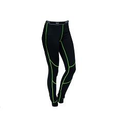 Spodky REWARD funkční dámské s dlouhou nohavicí černo-zelené