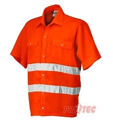 Košile 8161N signální s krátkým rukávem oranžová