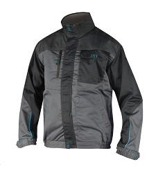 Montérková bunda 4TECH H9300 zesílené sedlo, 600D reflexní paspule šedo-černá