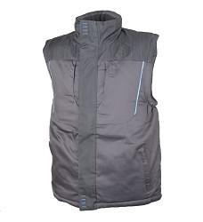 Montérková vesta 4TECH H9303 zimní zesílené sedlo 600D reflexní paspule šedá