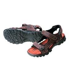 Sandále WULIK CRV, pánské, na suché zipy, hnědé,svršek kůže, PU podrážka