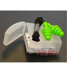 Zátkové chrániče sluchu ED 4FIT SNR 30dB s lankem, stromečkové lamely, bal. 6pá