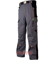 Montérkové kalhoty VISION H9107 pasové šedá-oranžová