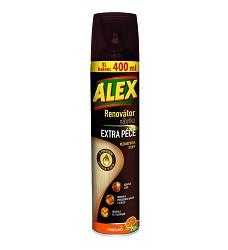 ALEX renovátor nábytku, 400 ml sprej proti prachu antistatický limetka , les