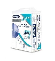Toaletní papír skládaný celulóza PaperBlu  2 vrstvy 225 útržků 40 balení v kartonu