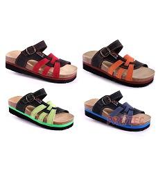 TENERIFE JANA pantofle na klínku, zvýšená podešev, dvojbarevné