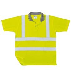 Tričko POLO COMFORT S171 reflexní s límečkem oranžové/žluté PORTWEST