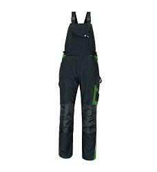 Montérkové kalhoty ALLYN pánské  s laclem černo/zelené