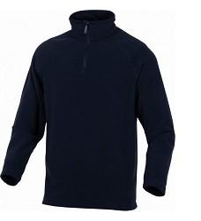 Mikina  ALMA, polyesterový fleece, černá,  vysoký límec na krátký zip, 200g/m2