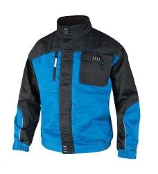 Montérková bunda 4TECH H9400 zesílené sedlo, 600D reflexní paspule modro-černá