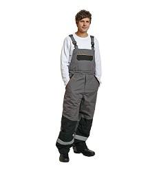 Montérkové kalhoty EMERTON zimní s laclem do -40 °C šedé