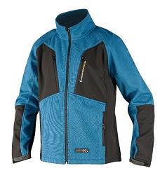 OLIVER H2134 pánská bunda v kombinaci pleteniny a softshellu, modrá