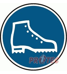 B.t. sam. Použijte bezpečnostní obuv 20cm