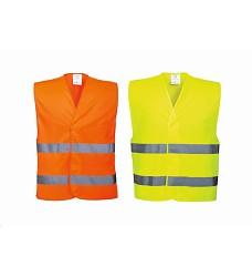 Vesta C474 reflexní 100% Polyester zapínání na háček a očko žlutá | oranžová