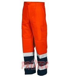 Kalhoty pánské pas výstražné s reflexními pruhy dvoubarevné IS