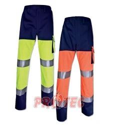 Montérkové kalhoty reflexní PHPAN, Panoply, oranžovo-modré, 260g/m2