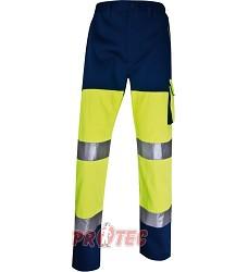Montérkové kalhoty reflexní PHPAN, Panoply, žluto-modré, 260g/m2