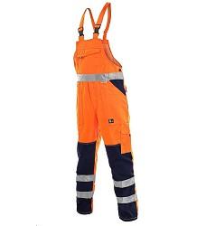 Kalhoty NORWICH reflexní s laclem pánské oranžové