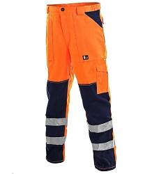 Kalhoty NORWICH reflexní do pasu pánské oranžové