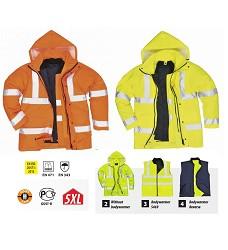 Bunda reflexní S468 HI-VIS TRAFFIC 4v1 žlutá nebo oranžová