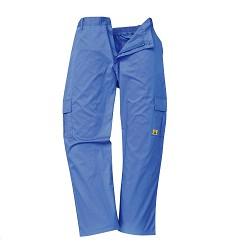 Antistatické ESD kalhoty AS11, unisex modré