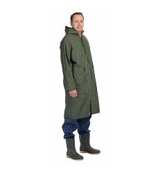 Plášť ochranný s kapucí CETUS, PVC, zelený a žlutý