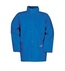 Bunda DORTMUND 4820 pánská nepromokavá s kapucí v límci, 100 % Flexothane, sv. modrá