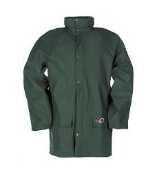Bunda DORTMUND 4820 pánská nepromokavá s kapucí v límci, 100 % Flexothane, zelená