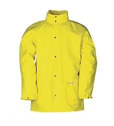 Bunda DORTMUND 4820 pánská nepromokavá s kapucí v límci, 100 % Flexothane, žllutá