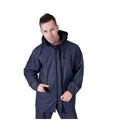 Bunda DORTMUND 4820 pánská nepromokavá s kapucí v límci, 100 % Flexothane, navy
