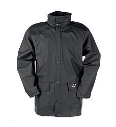 Bunda DORTMUND 4820 pánská nepromokavá s kapucí v límci, 100 % Flexothane, černá