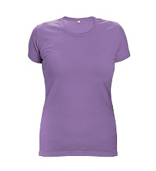 Triko dámské SURMA LADY s krátkým rukávem, fialové 170g/m2
