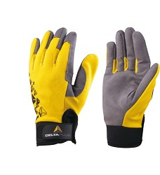 Rukavice BOREE VV901 na suchý zip polyester/elastan/polyamid žluto/černé