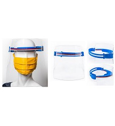 Ochranný štít z polykarbonátu pro použití ve zdravotnictví S - 220 mm