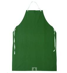 Zástěra GUSTAV s náprsenkou zelená PVC + polyester 1111-00
